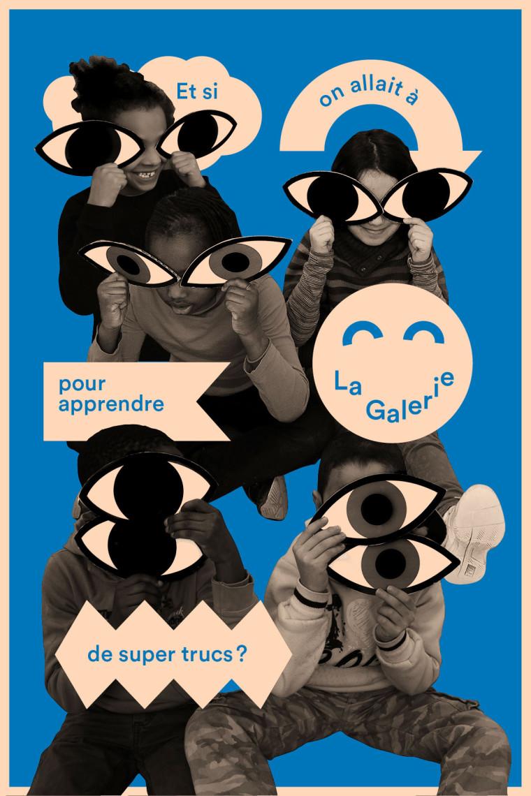 carton d'invitation de l'exposition, La Galerie, centre d'art contemporain de Noisy-le-Sec